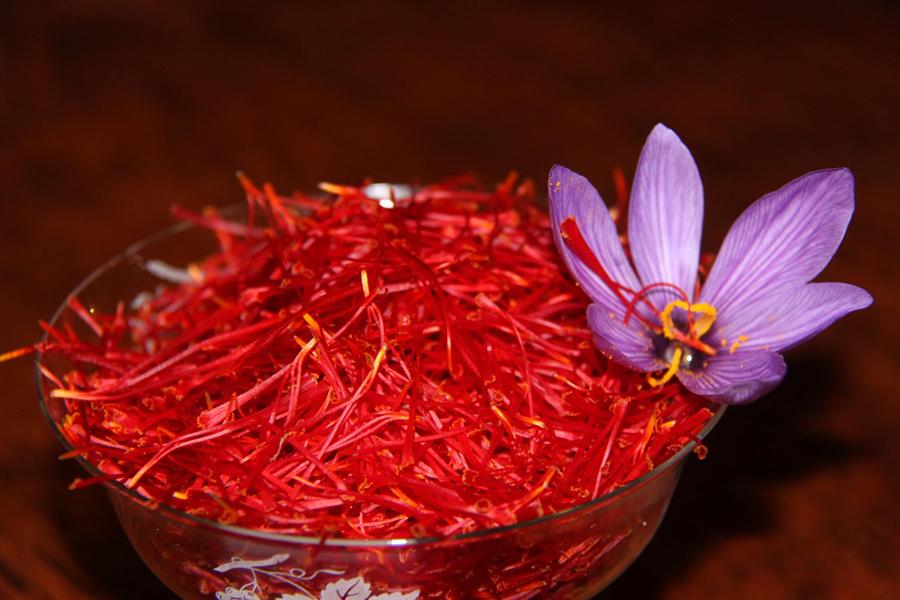 safran et fleur de crocus