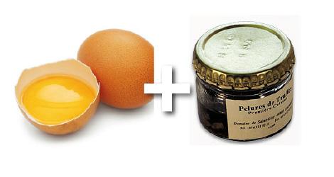 omelette truffres pelures