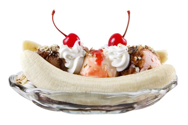 dessert banana-split