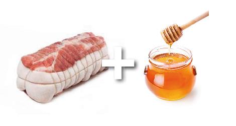 rôti porc cumin miel