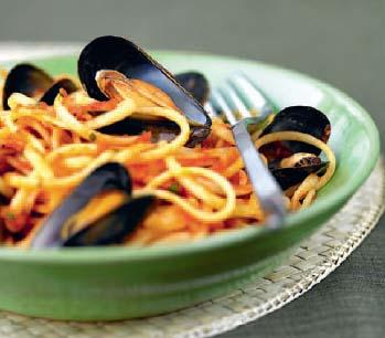 moules et spaghetti