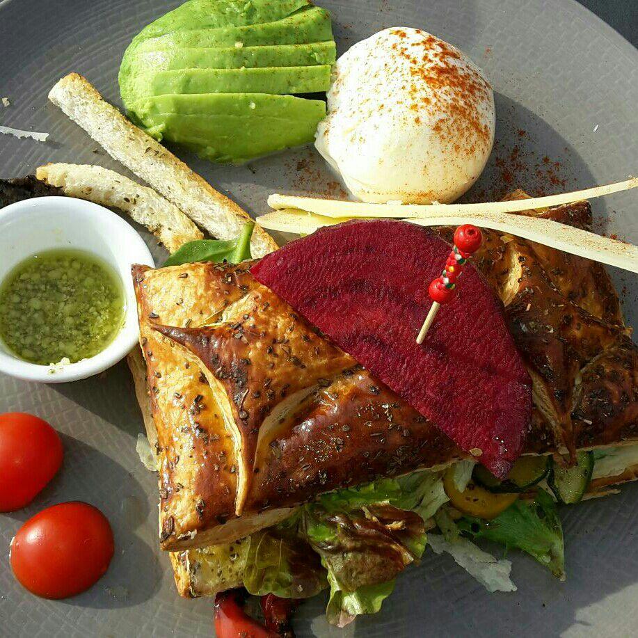 végétarien belle assiette