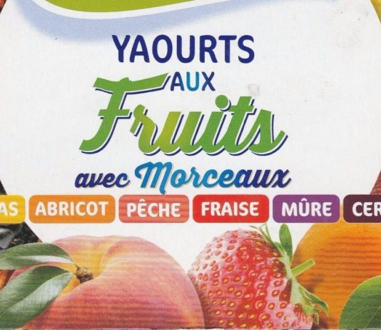 yaourts avec fruits
