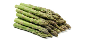 asperges vertes à l'air
