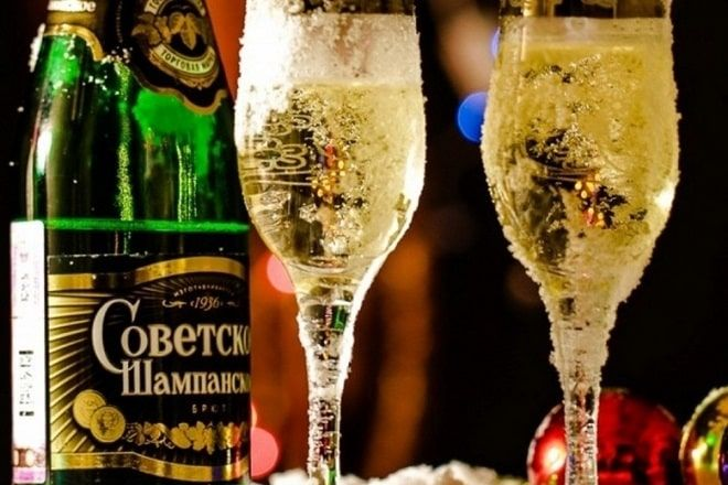champagne Russie